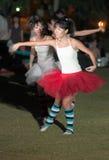 芭蕾扮小丑的舞蹈演员 库存图片