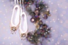 芭蕾拖鞋 免版税库存图片