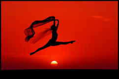 芭蕾日落 库存图片