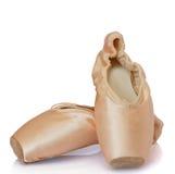 芭蕾桃红色专业鞋子 库存图片