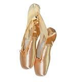 芭蕾桃红色拖鞋 图库摄影