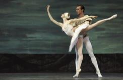 芭蕾湖执行皇家俄国天鹅 免版税图库摄影