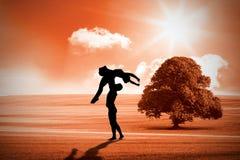 芭蕾的综合图象成为一起优美跳舞的伙伴 免版税库存图片