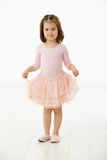 芭蕾礼服女孩一点 图库摄影