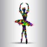 芭蕾美好的舞蹈演员设计例证 免版税库存照片