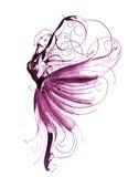 芭蕾美好的舞蹈演员设计例证 皇族释放例证