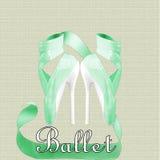 芭蕾脚跟 免版税图库摄影