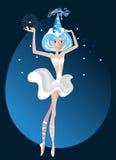 芭蕾舞女演员一点 向量例证