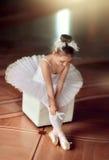 芭蕾舞女演员一点 图库摄影