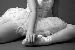 芭蕾舞女演员休息 库存图片