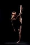 年轻芭蕾舞女演员优秀分裂  免版税库存照片
