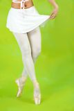芭蕾舞女演员关闭行程  免版税库存照片