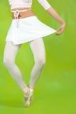 芭蕾舞女演员关闭行程  库存图片