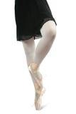 芭蕾舞女演员关闭行程  库存照片