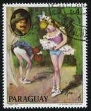 芭蕾舞女演员和约翰Straus画象年轻Cydne 库存照片