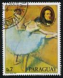 芭蕾舞女演员和肖邦画象埃德加・德加 库存照片