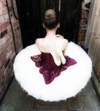芭蕾舞女演员在庭院里 库存图片