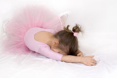 芭蕾舞女演员女孩哀伤的一点 免版税库存照片
