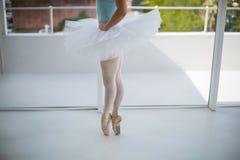 芭蕾舞女演员实践的芭蕾舞蹈 库存图片