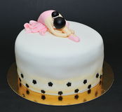 芭蕾舞女演员方旦糖蛋糕 免版税库存图片