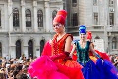 芭蕾舞女演员显示荷兰,在B-FIT里面2016年 免版税库存照片