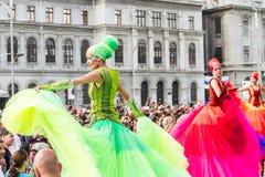 芭蕾舞女演员显示(荷兰),在B-FIT里面2016年 免版税库存照片