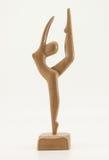 芭蕾舞女演员木头 库存照片