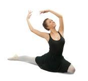 芭蕾舞女演员浅黑肤色的男人女孩 免版税库存照片