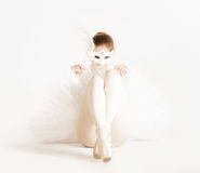 芭蕾舞女演员狂欢节屏蔽 免版税库存照片