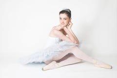 芭蕾舞女演员疲倦 库存图片