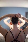 芭蕾舞女演员的构成 免版税库存照片