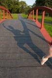 芭蕾舞女演员的阴影在公园 库存照片