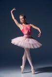 芭蕾舞女演员的画象芭蕾姿势的 免版税库存图片
