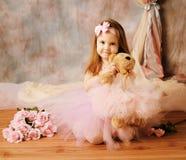 芭蕾舞女演员秀丽一点 免版税库存照片