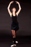 芭蕾舞女演员第五个位置 库存照片