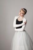芭蕾舞女演员纵向 库存照片