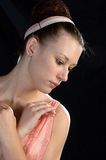 芭蕾舞女演员纵向 免版税库存图片