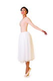 芭蕾舞女演员美丽的年轻人 免版税库存图片