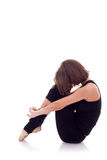 芭蕾舞女演员舒展 免版税库存图片