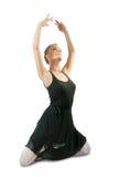 芭蕾舞女演员舞蹈执行 免版税库存图片