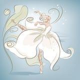 芭蕾舞女演员花 库存图片