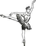 芭蕾舞女演员跳舞 库存图片