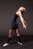 芭蕾舞女演员黑芭蕾舞短裙 免版税库存图片