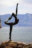 芭蕾舞女演员mogren雕象 库存图片