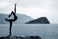 芭蕾舞女演员mogren雕象 免版税库存图片