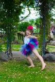 芭蕾舞短裙的女孩。 库存图片