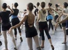 芭蕾舞蹈实践 免版税库存图片