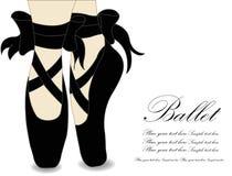 芭蕾舞鞋,传染媒介例证 免版税库存照片