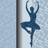 芭蕾设计卡片 免版税库存照片
