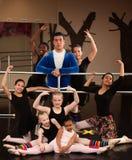 芭蕾选件类工作室 免版税库存照片